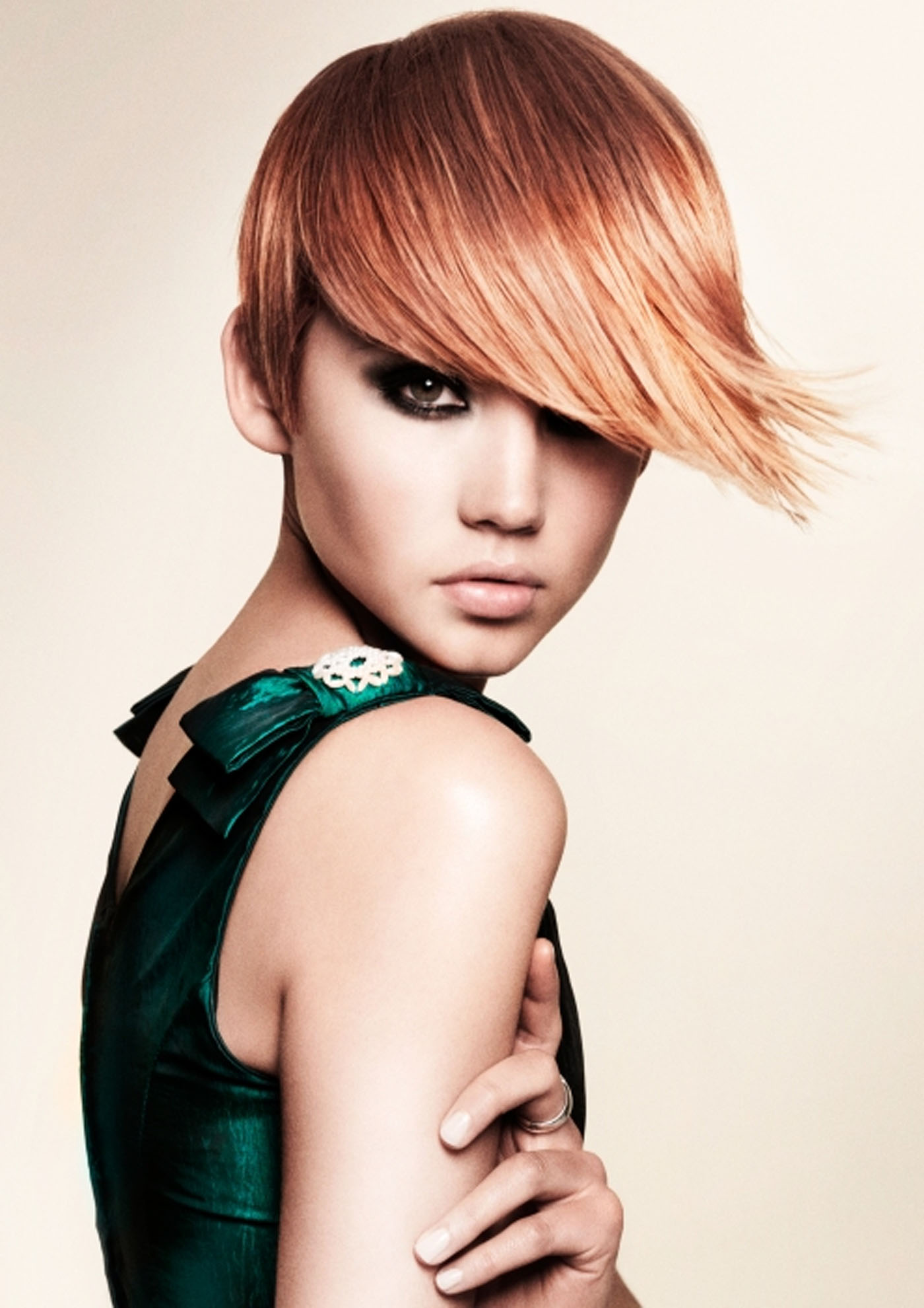 Pixie cut red edgy