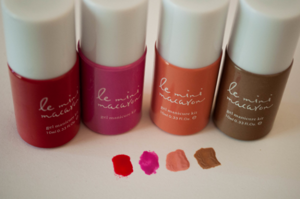 I got the cherry red, strawberry pink (included in kit), the rose creme, and caramel.