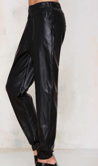 RUN WITH IT VEGAN LEATHER JOGGERS $26.40