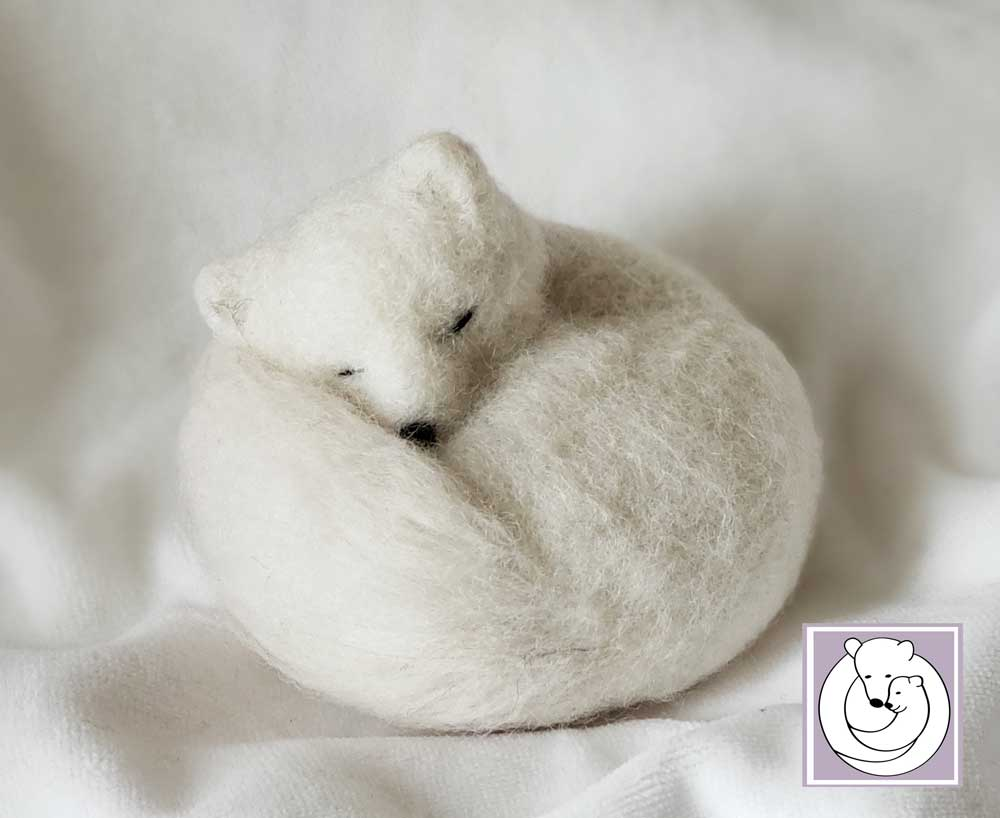 Sleeping Polar Fox