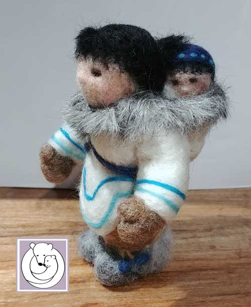 Inuit Woman with baby July 2018