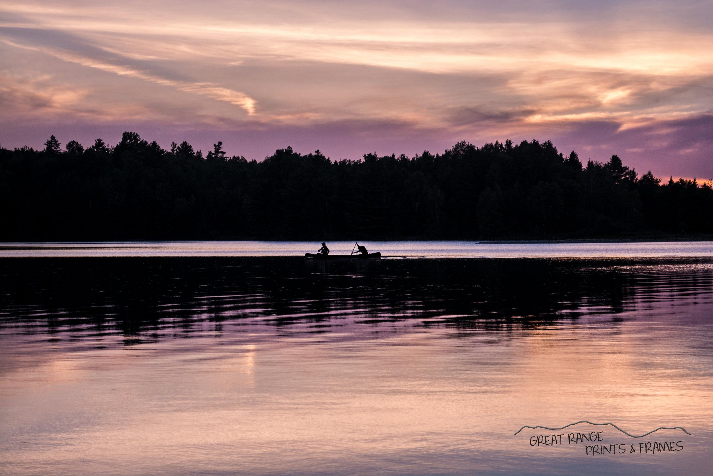 Canoe on Flagstaff Lake