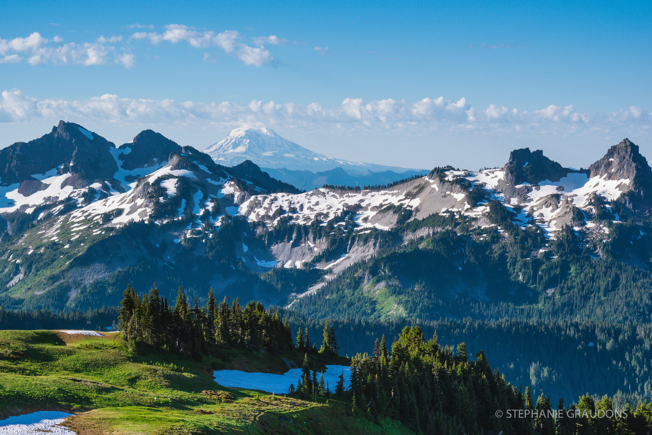 Tatoosh Range & Mt Adams