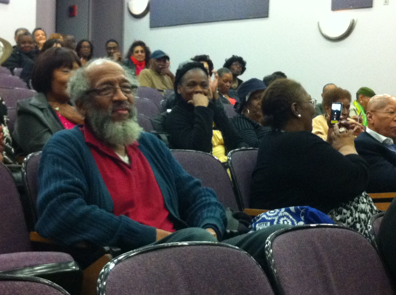 Talented actor Arthur French sits front and center in our LIttle Brother: The Fire Next Time audience at WADFF.