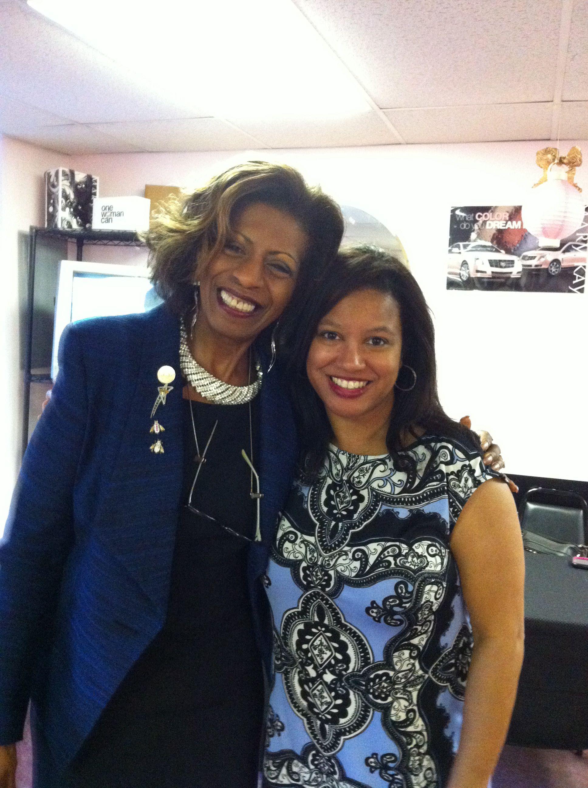 Juanita Gaddy and Nicole Franklin