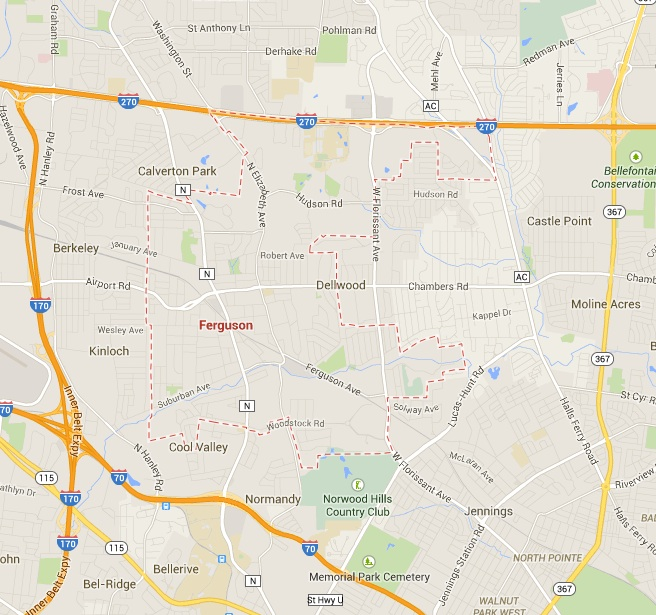 Ferguson Map