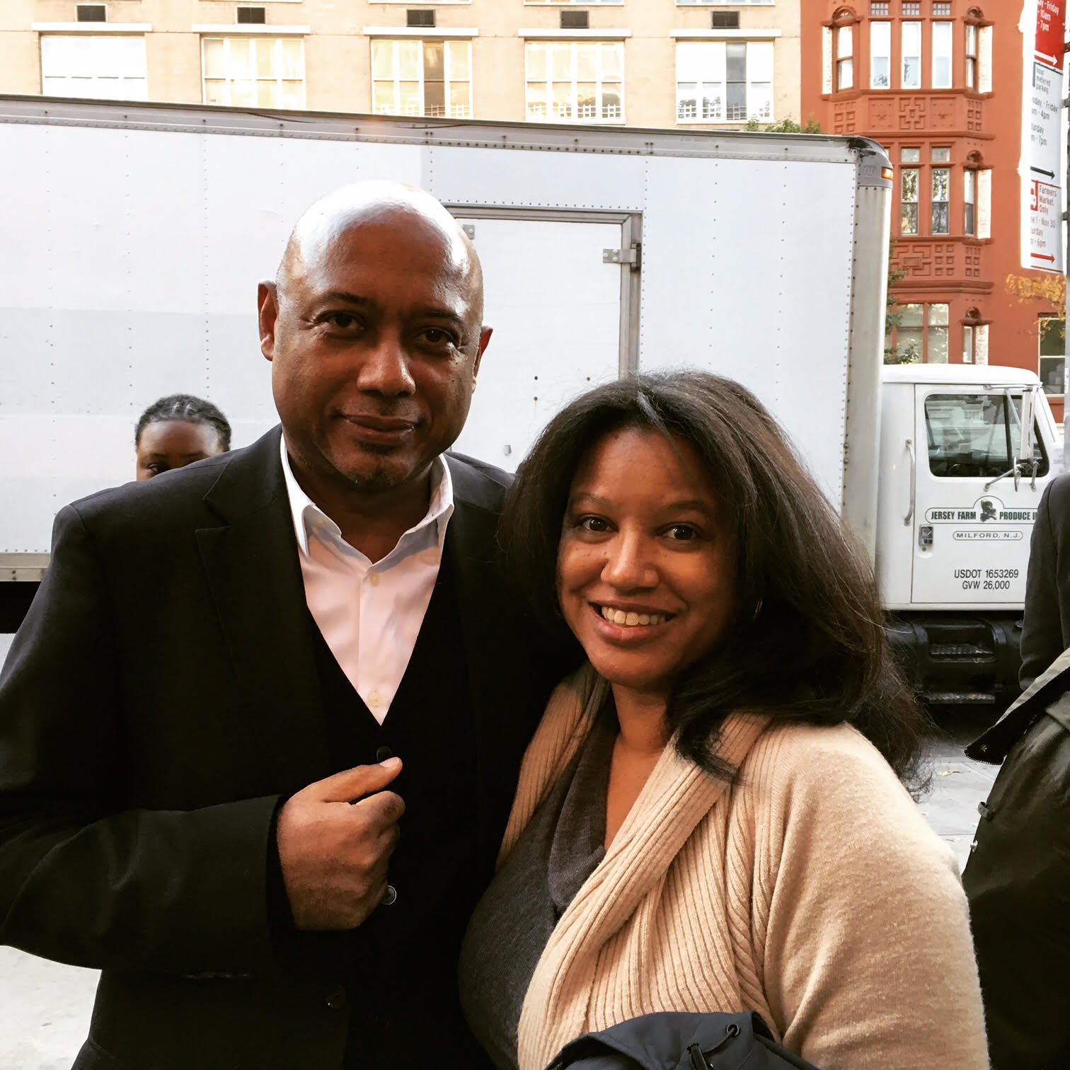 Filmmakers Raoul Peck and Nicole Franklin after a screening of  I Am Not Your Negro.