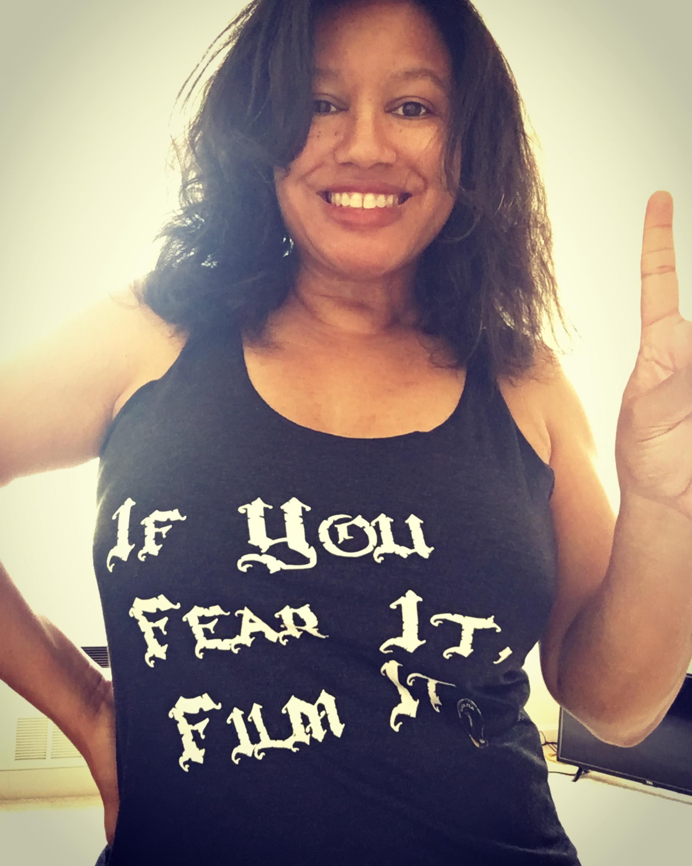 Nicole in BFP Fear It Film It Tee.jpg