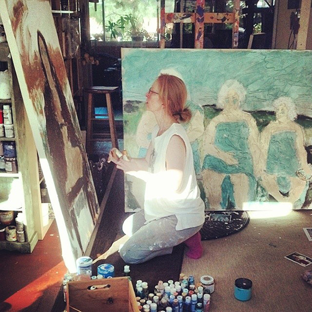 Embody Your Muse - Mollie Kellogg -   Mollie at work in the studio