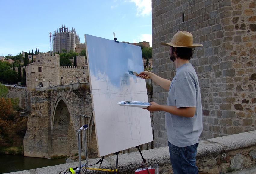 Creative Spotlight: Carlos SanMillán - Plen Air Painting