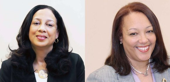 Judge Jamison (left), Ms. McClenny (right)  Photo courtesy of  Richmond Free Press