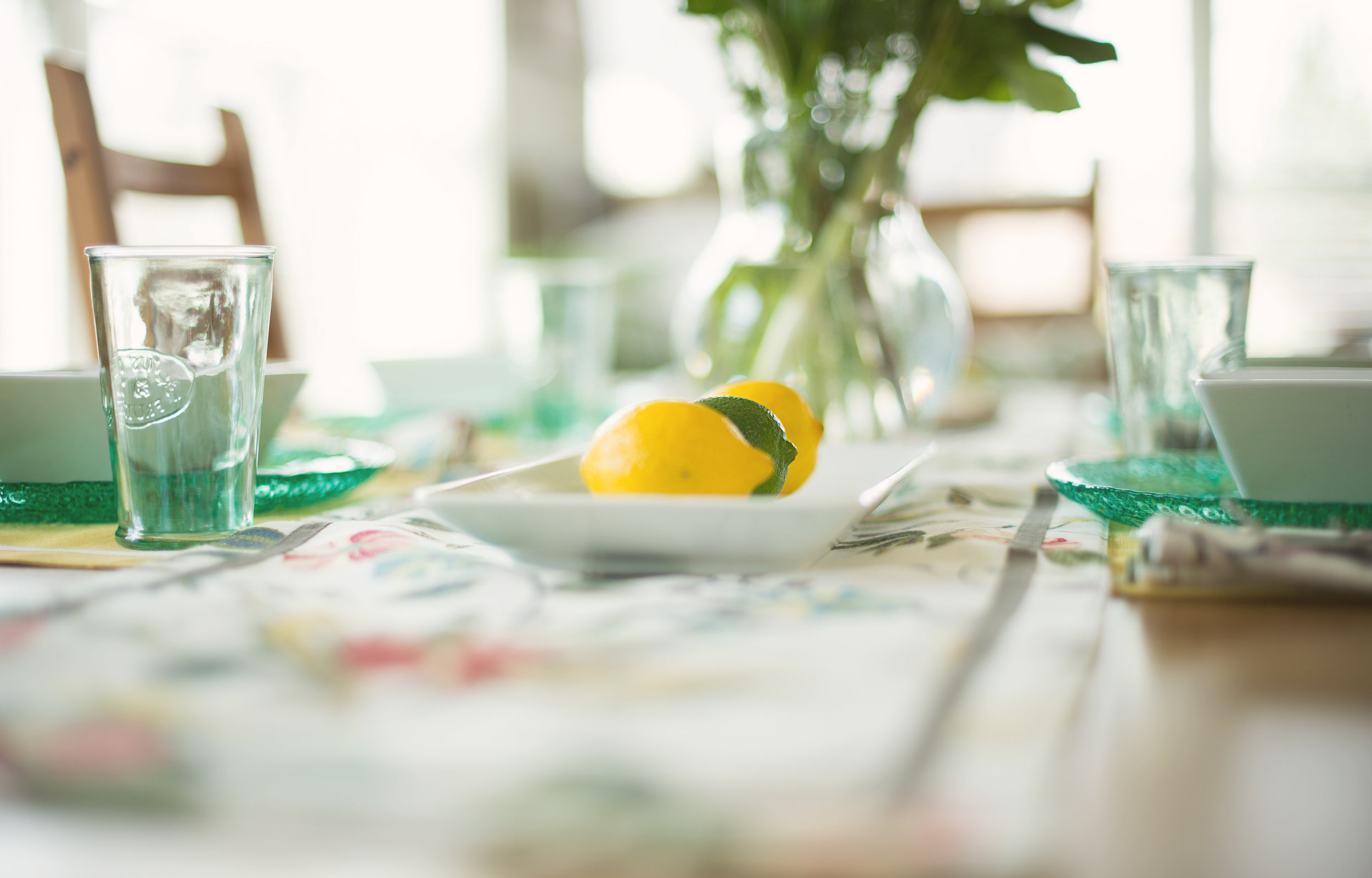 DINING ROOM - fresh citrus inspired colors