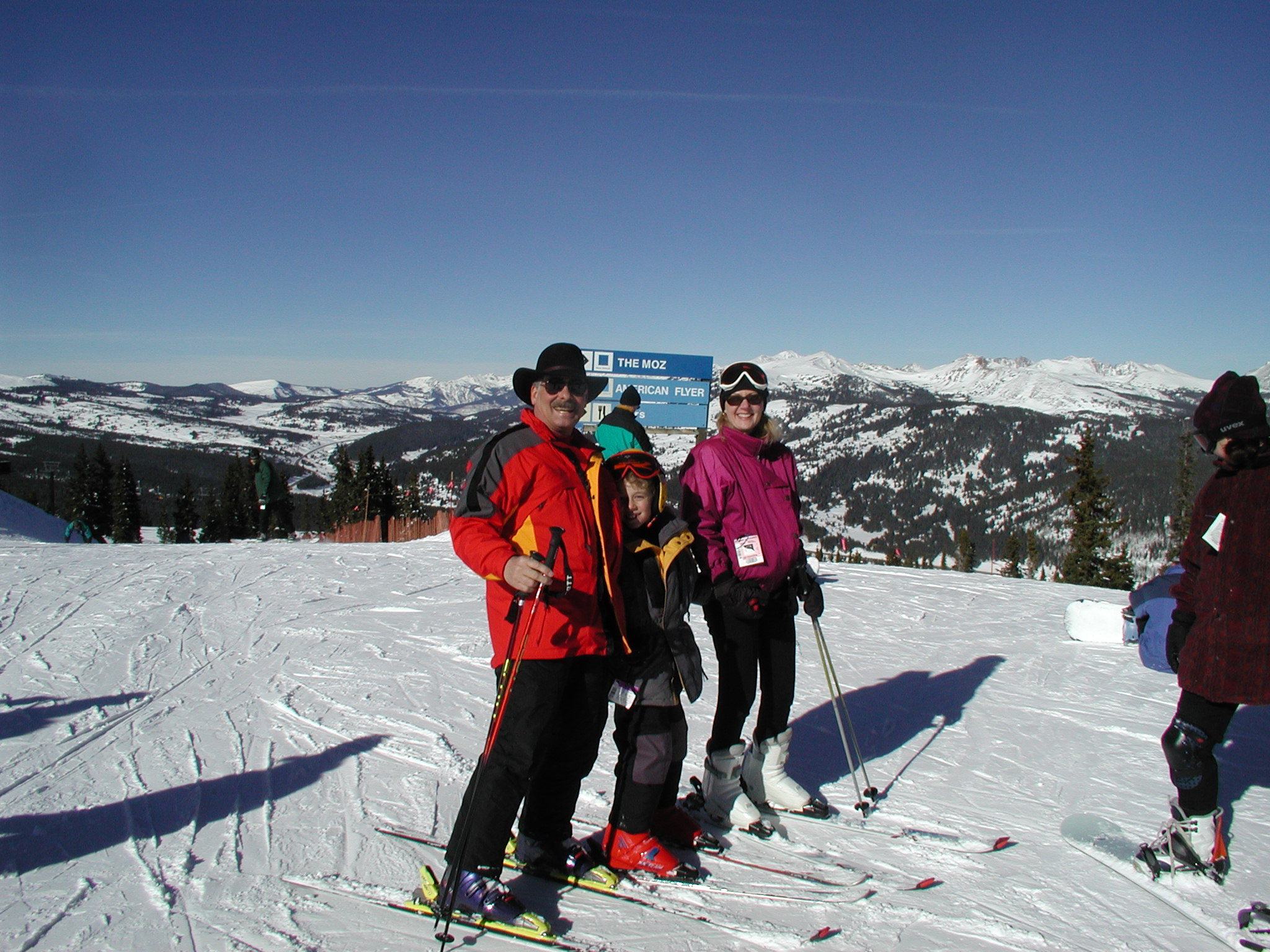 Pristine ski slopes in Breckenridge are just over an hour away.