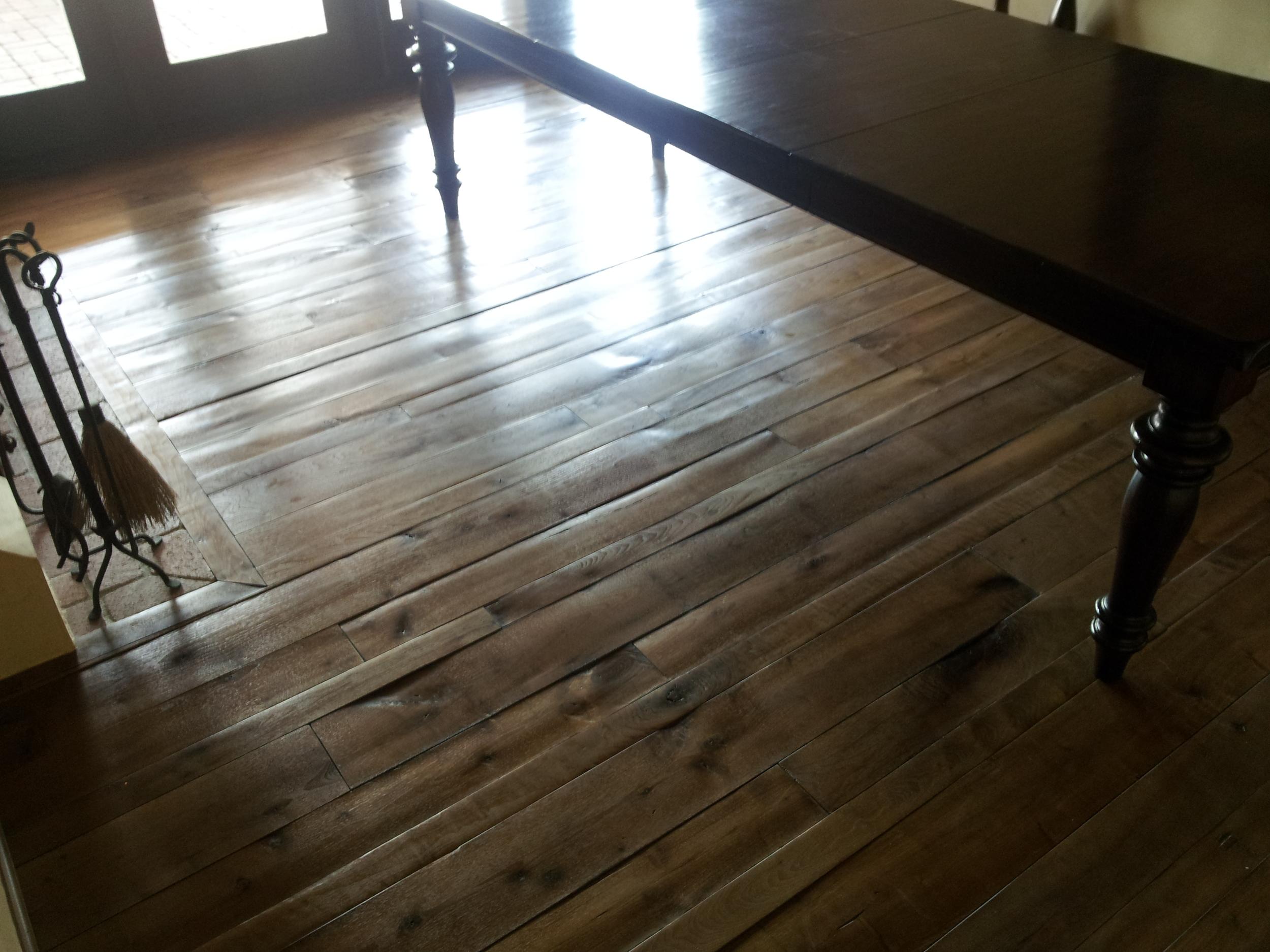 Rustic walnut flooring