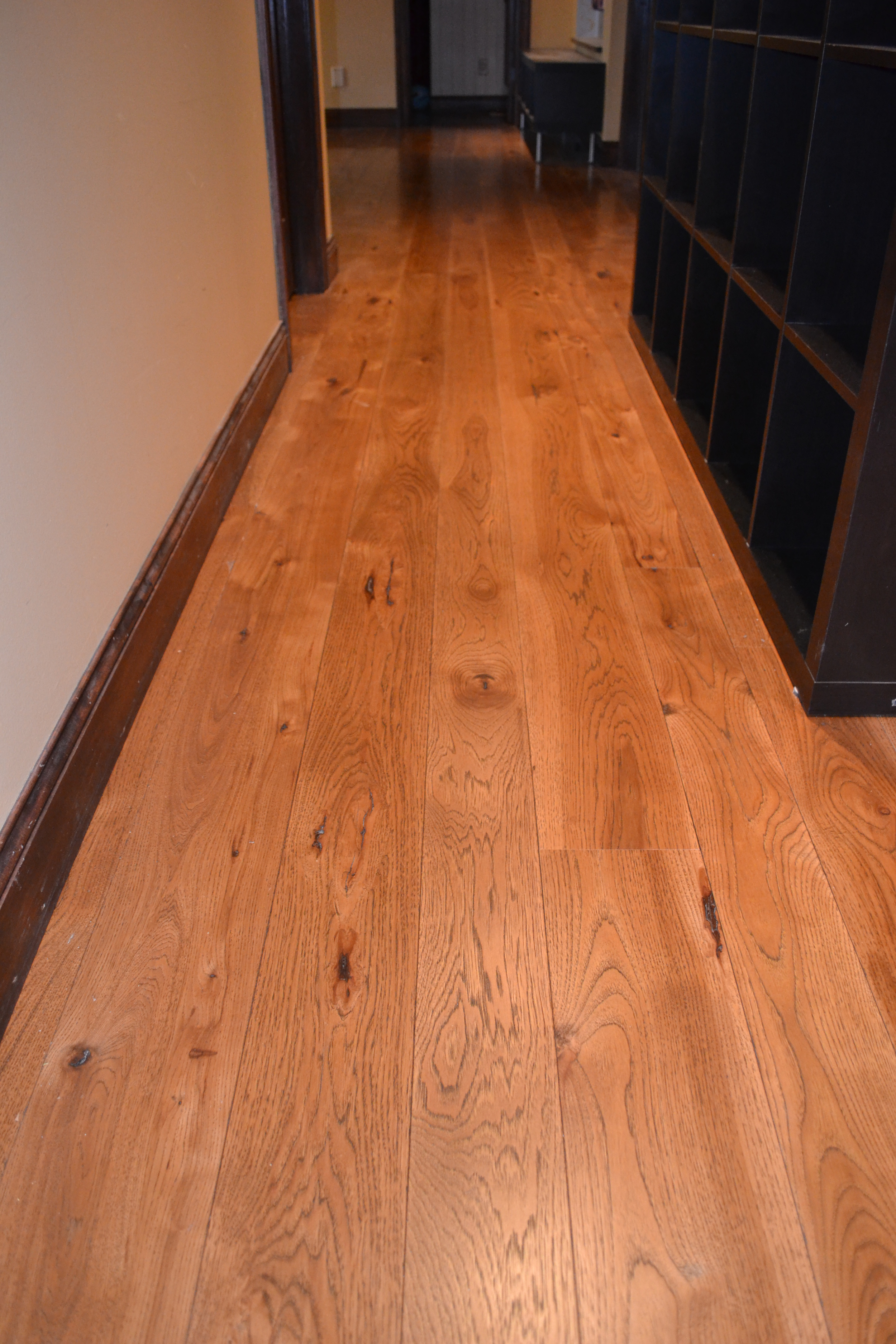 Wide Plank hickory Flooring