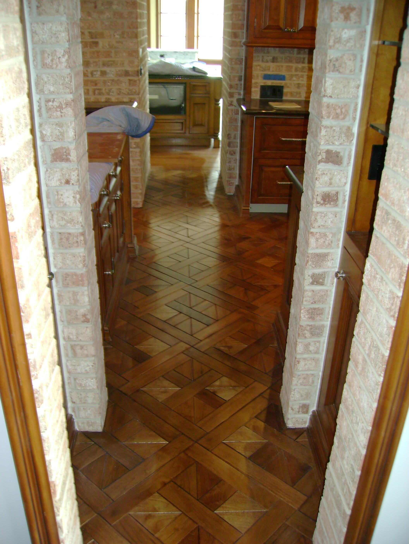 Bordeaux pattern in walnut flooring