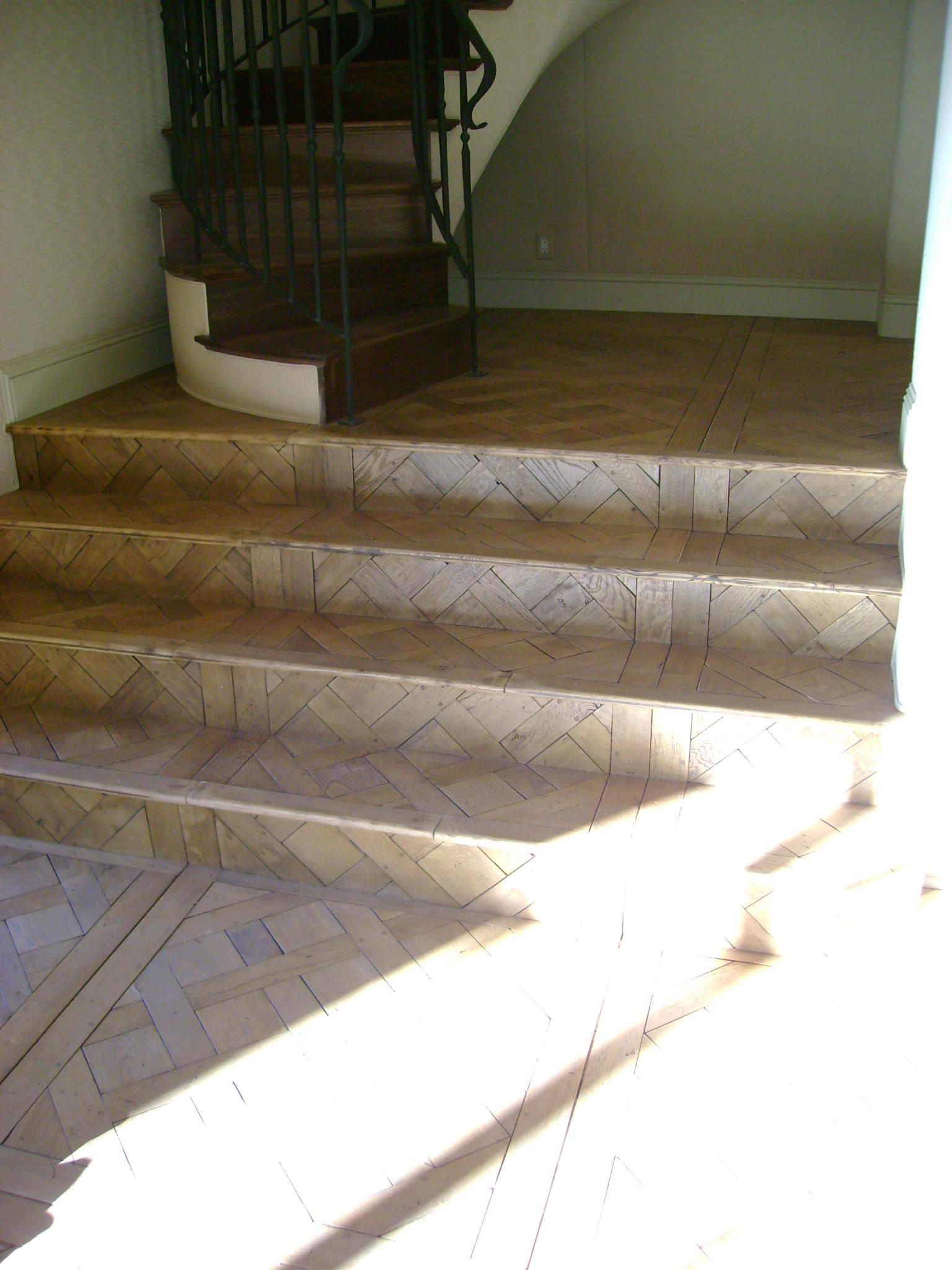 White oak versailles flooring