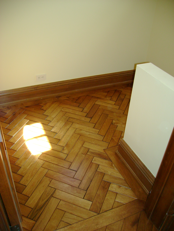 Walnut Herringbone flooring