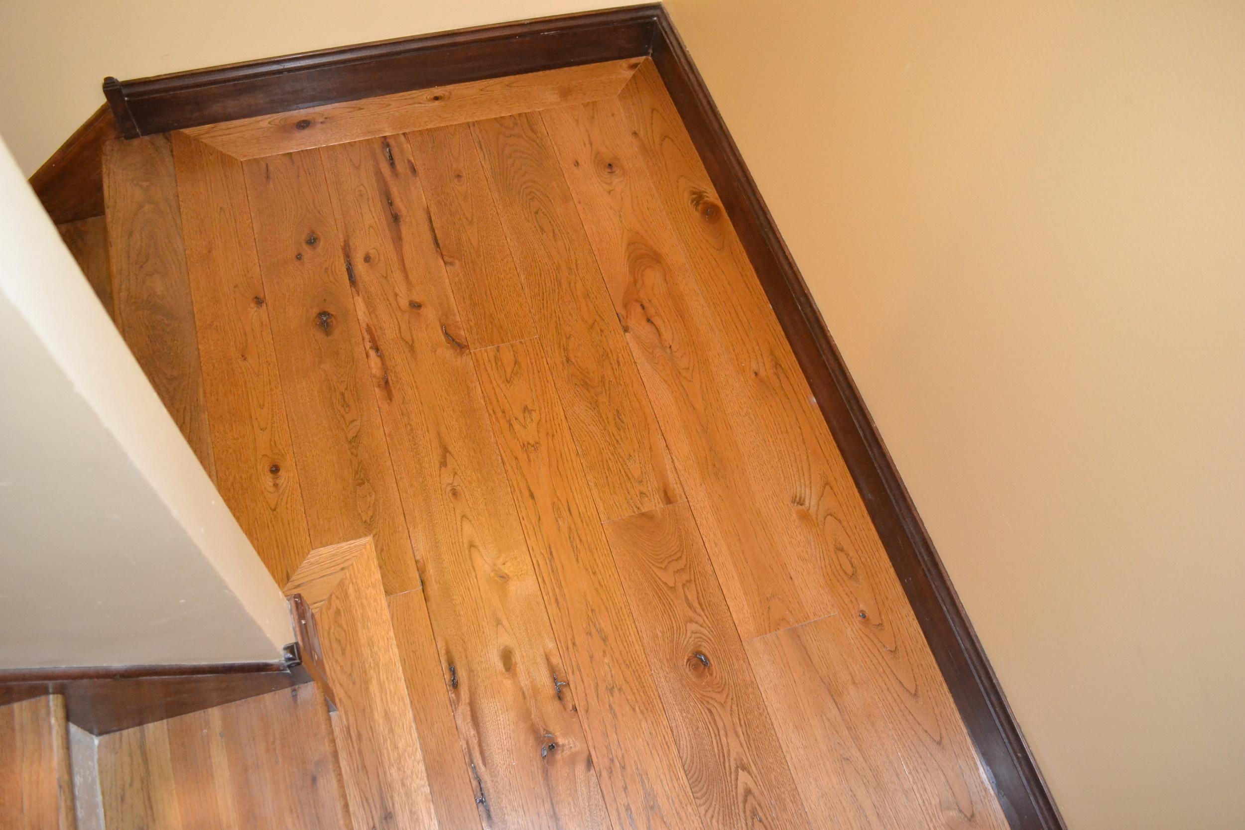 Hickory border around hickory flooring
