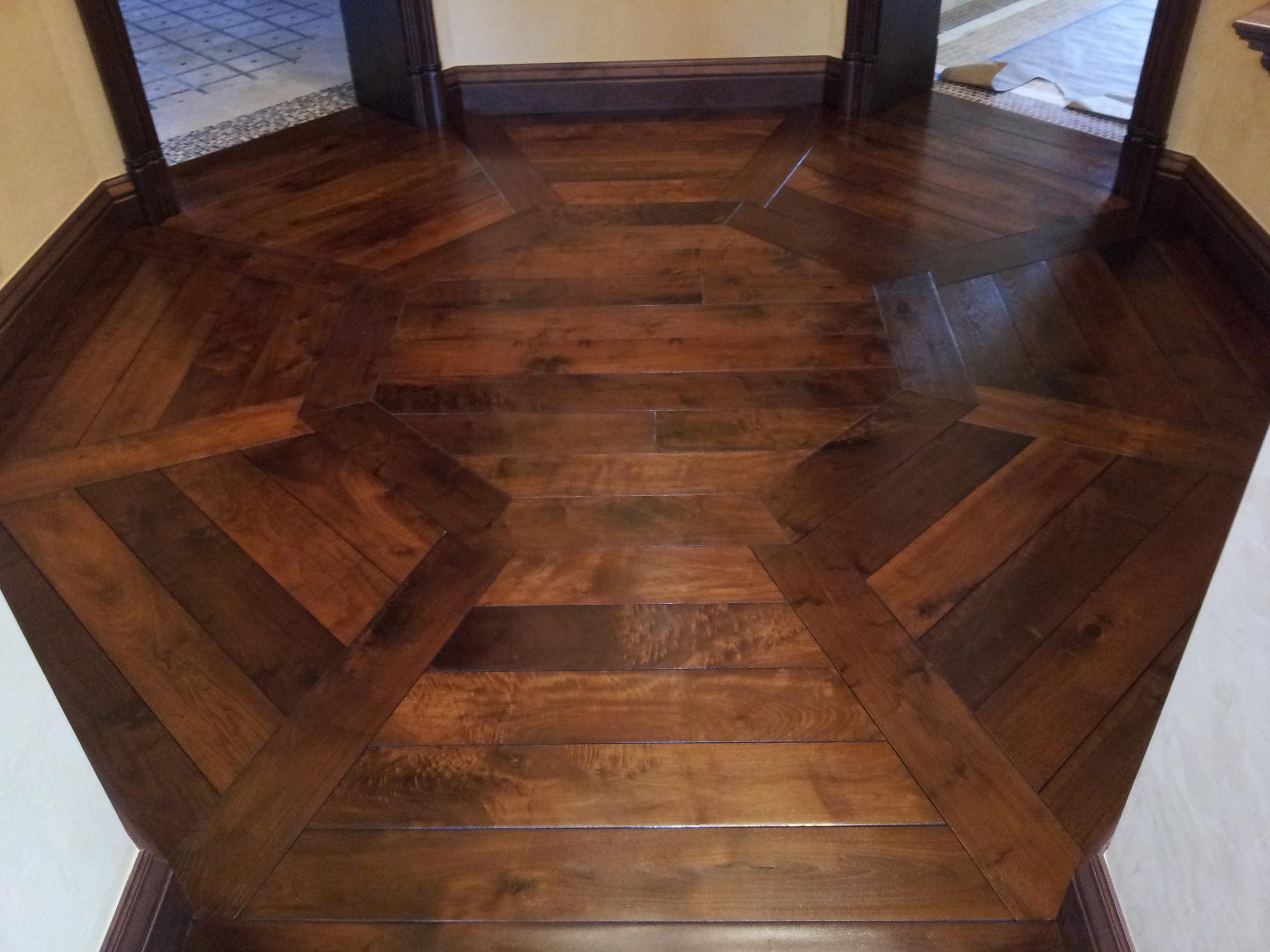 Octagon flooring pattern