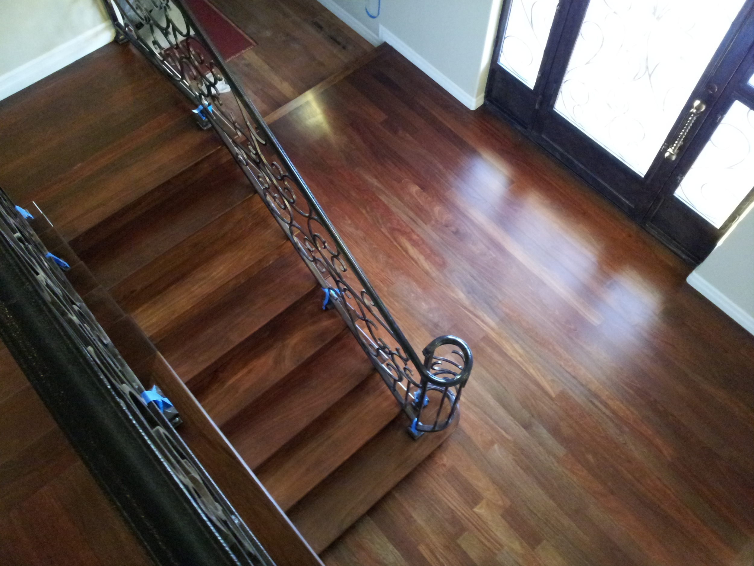 Rosewood staircase