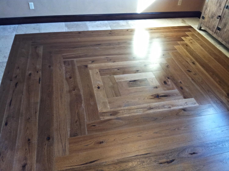 Log cabin flooring pattern