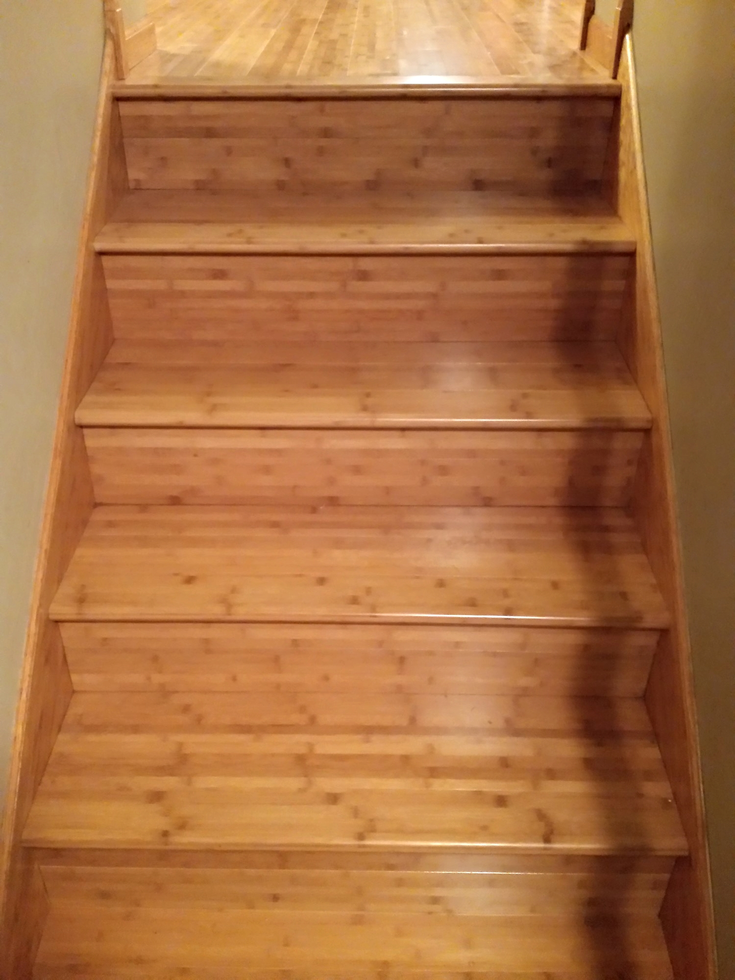 Bamboo Staircase, Installed in White Bear Lake, MN