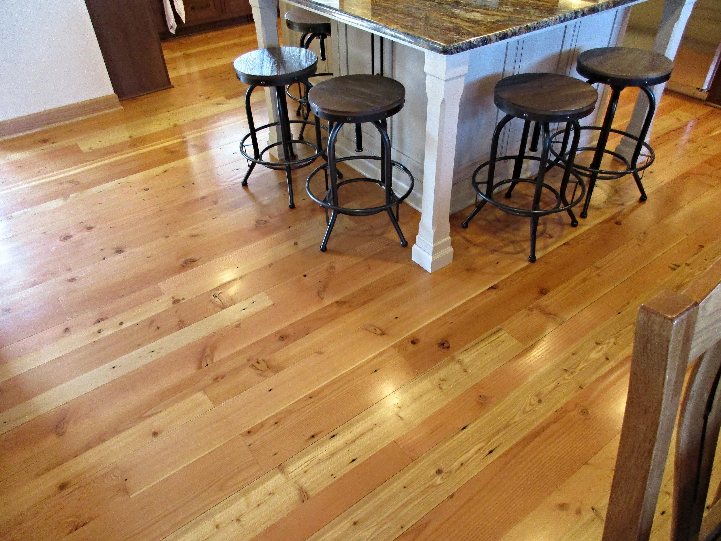 Reclaimed fir flooring