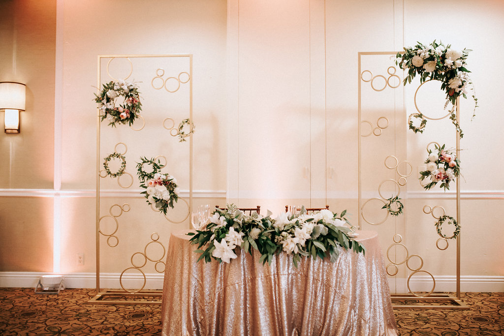 Custom back drop by Enticing Tables