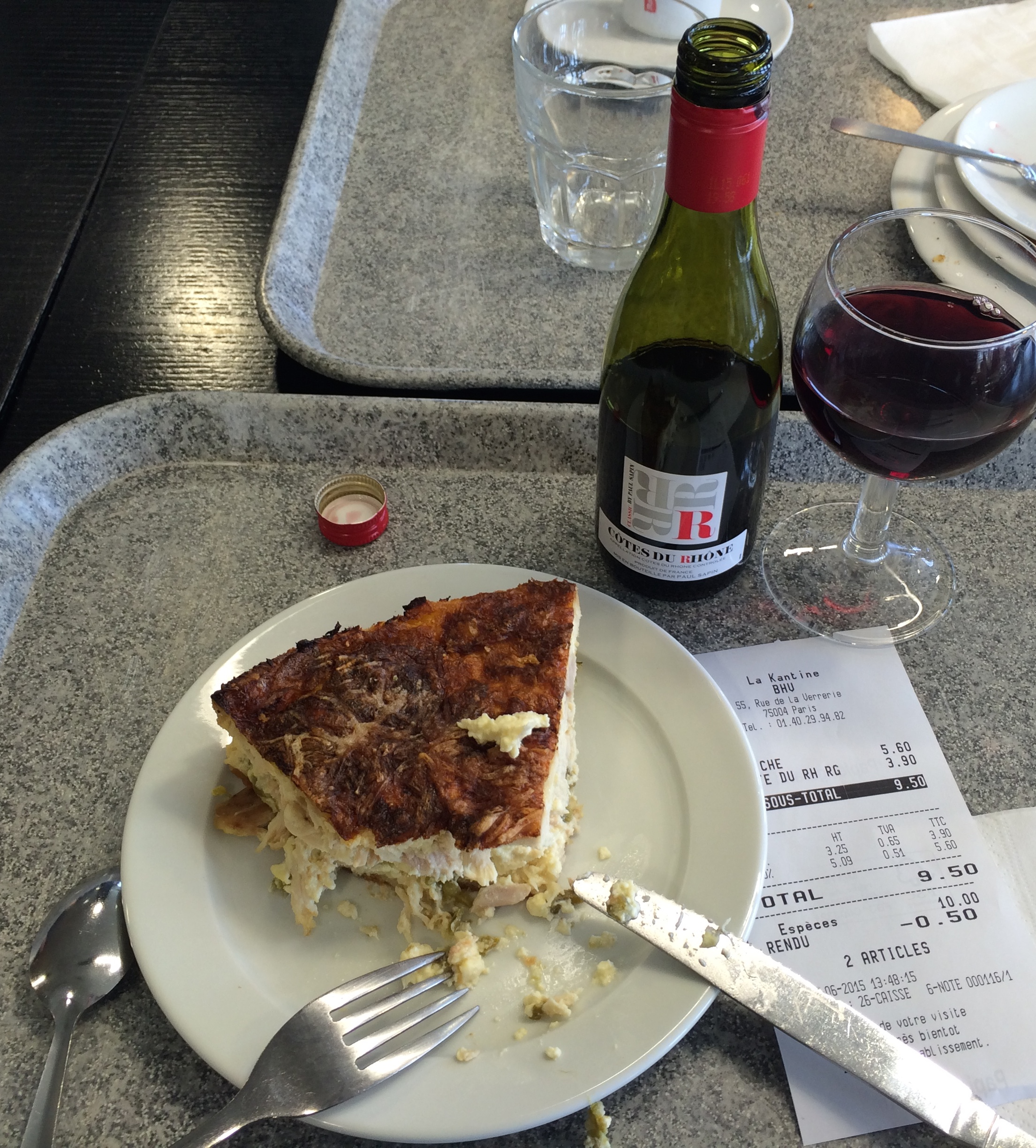 Quiche and Wine at BHV
