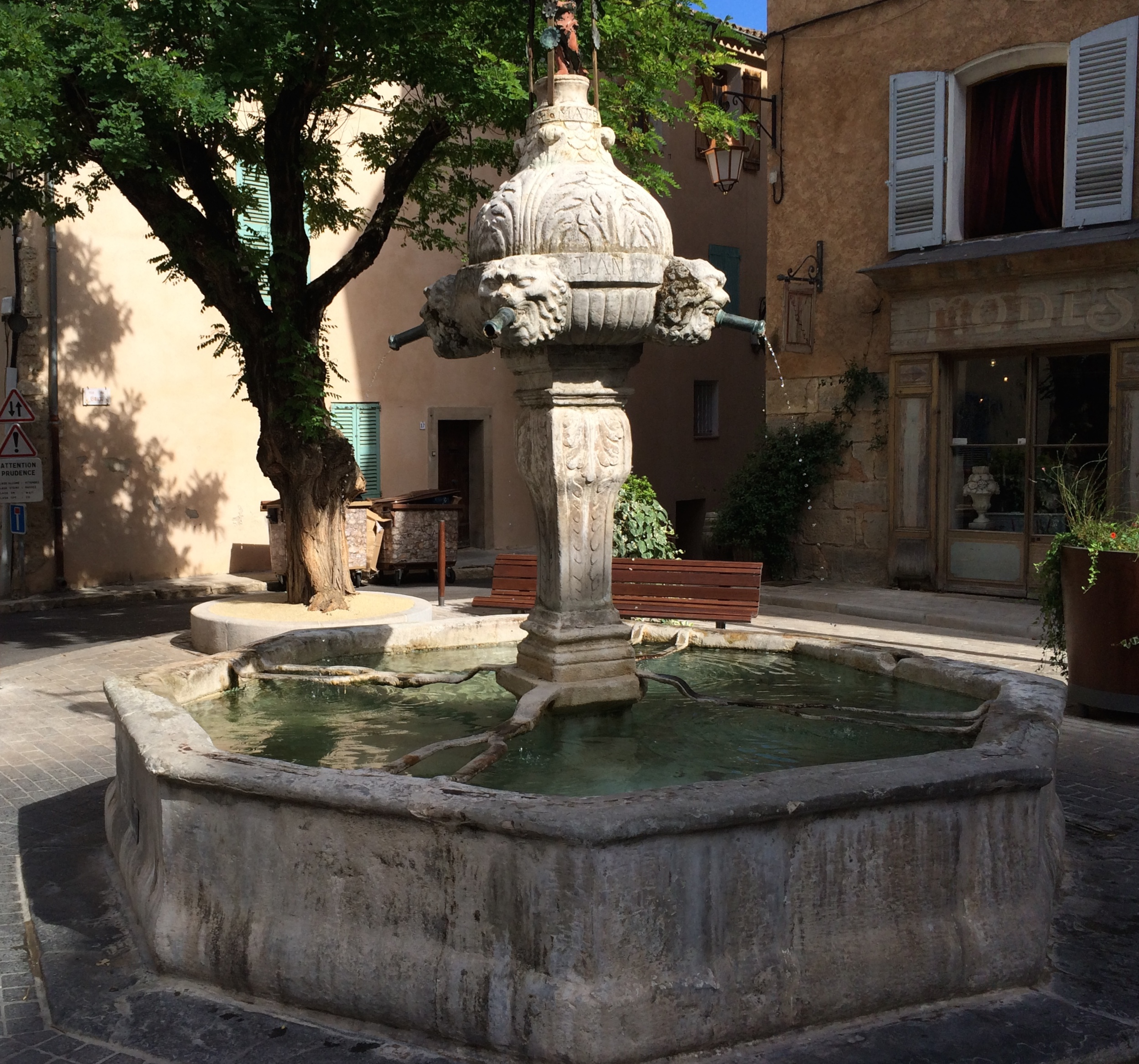One of  many fountains