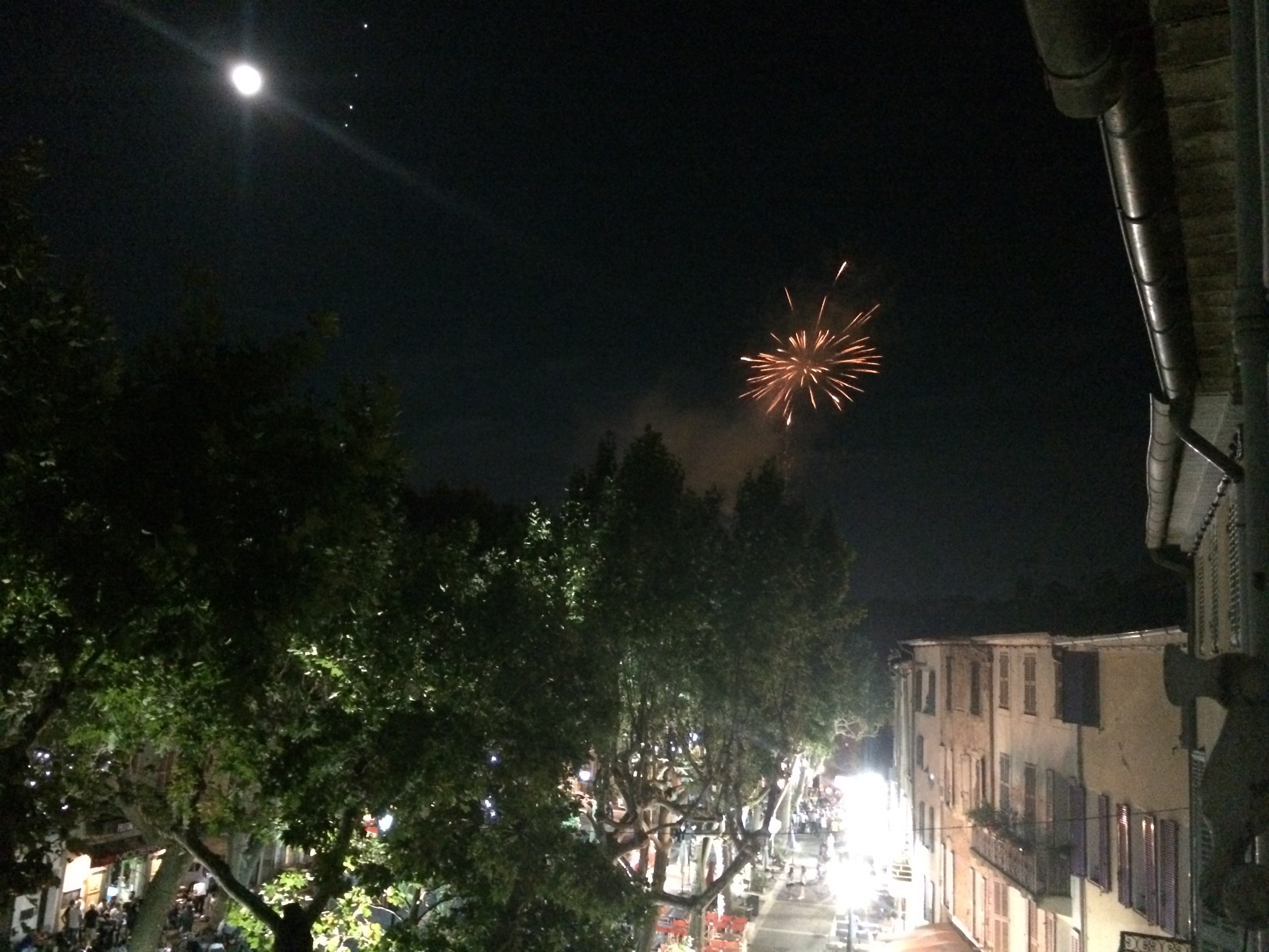 The finale of the Rock Concert - from my window.