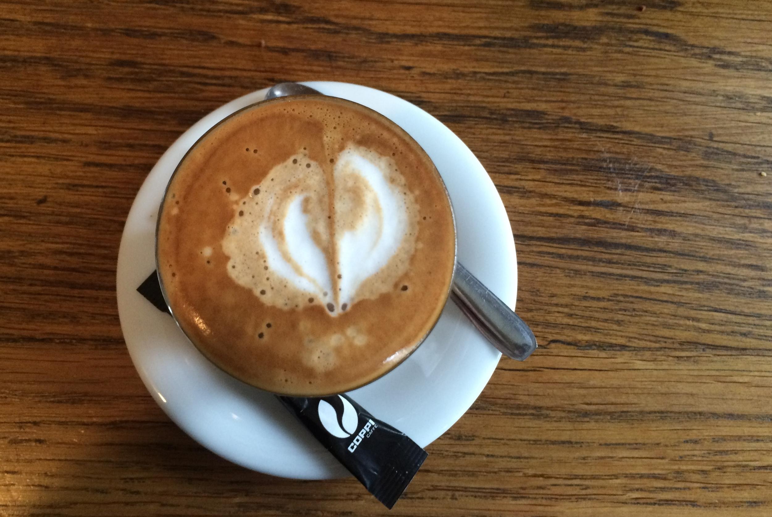 My café noisette at Yard Restaurant