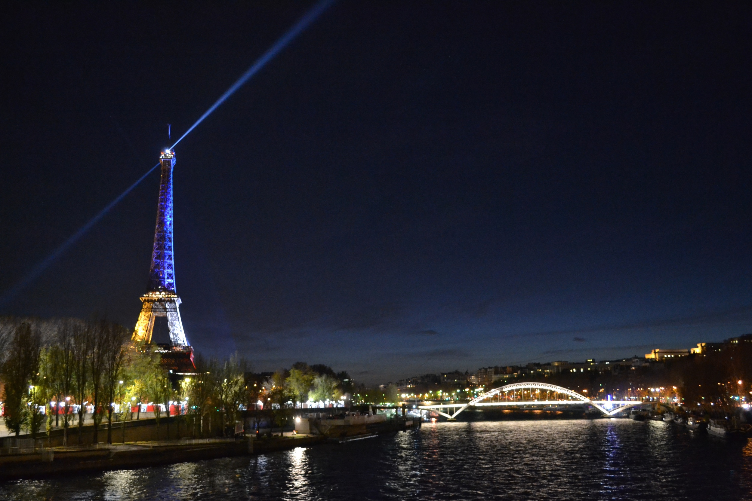 The Eiffel Tower - all decked out.