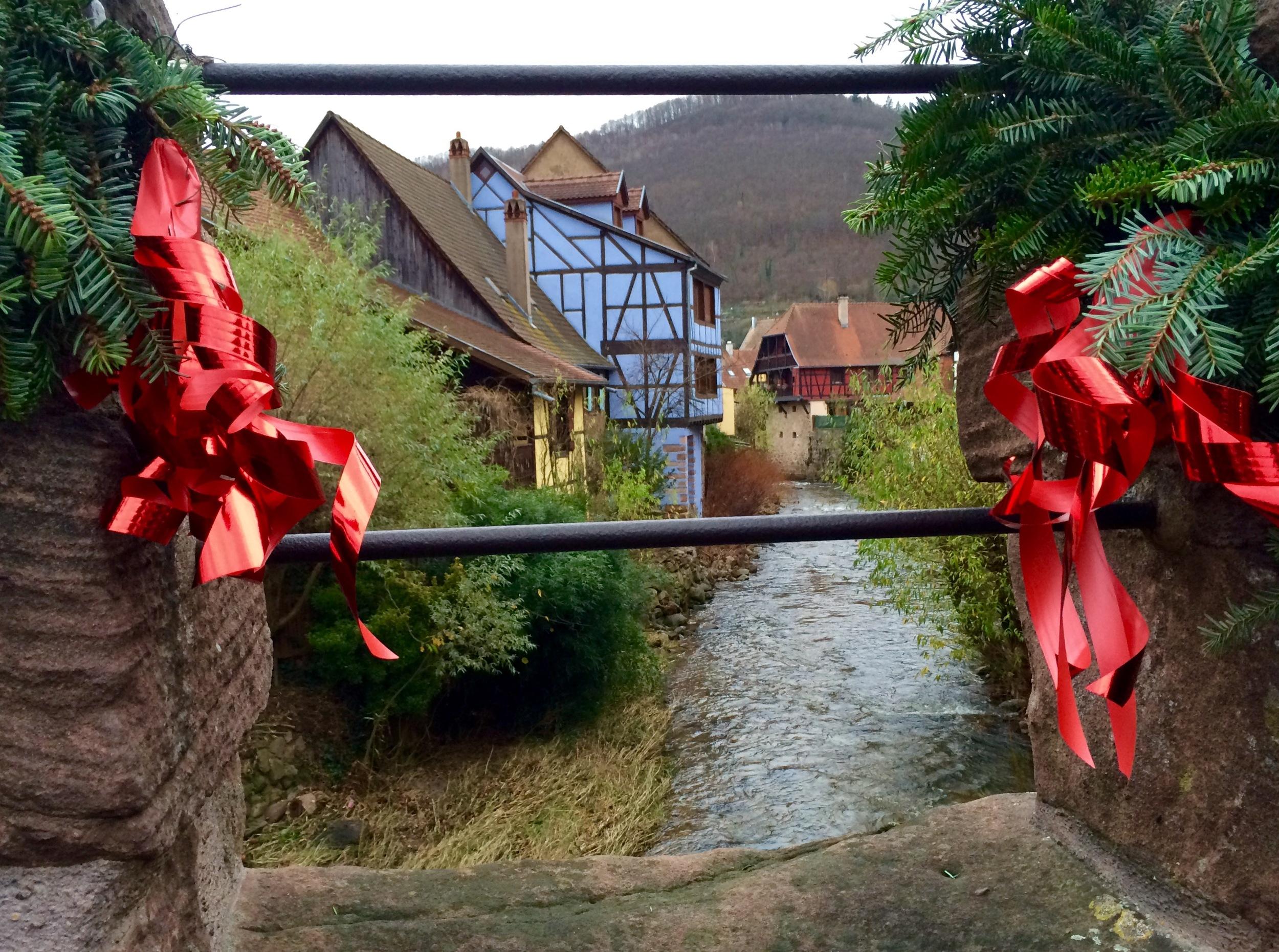 Christmasy 16th Century Bridge in Colmar