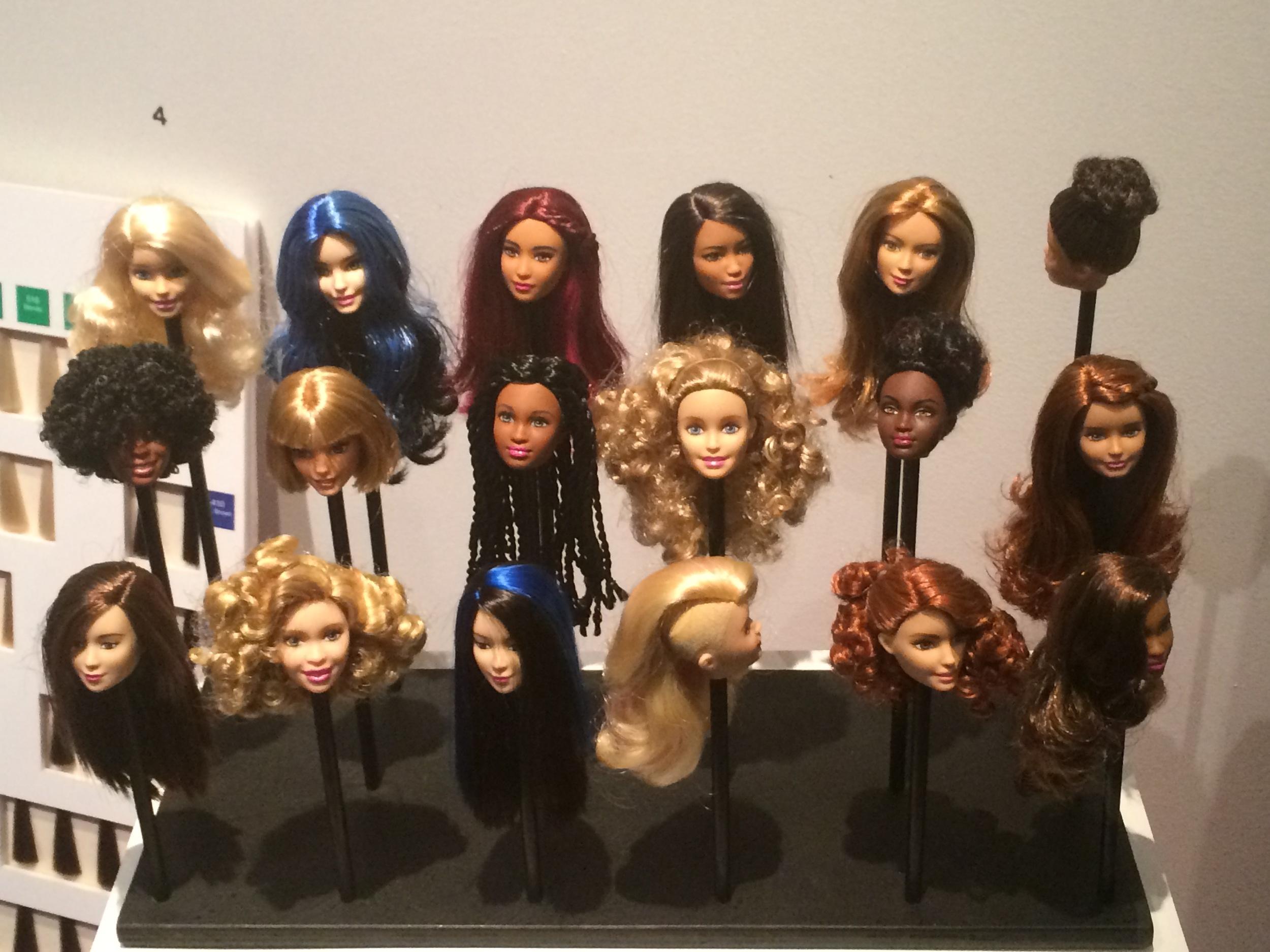 Barbie heads.