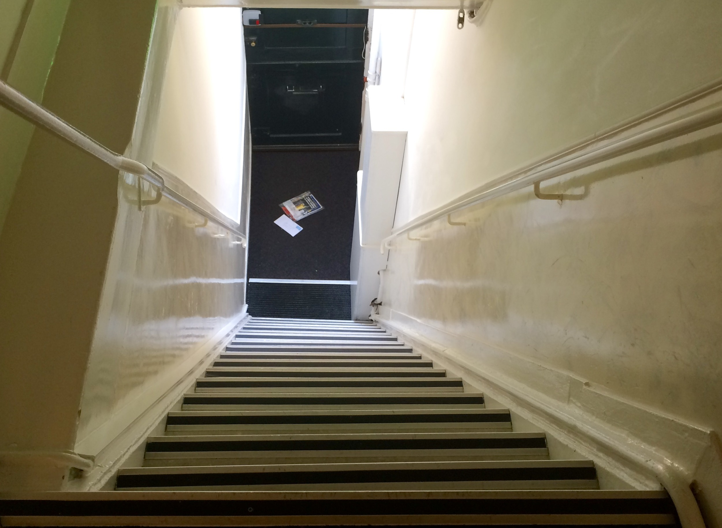 Steep and shallow stairs.