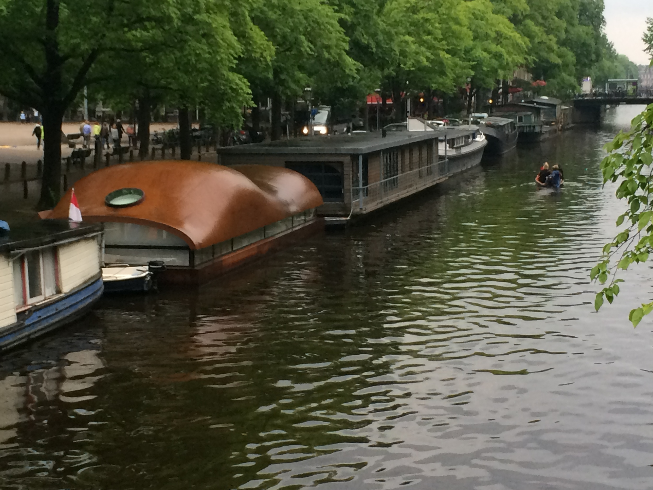 Houseboats on the Canal Prinsengracht