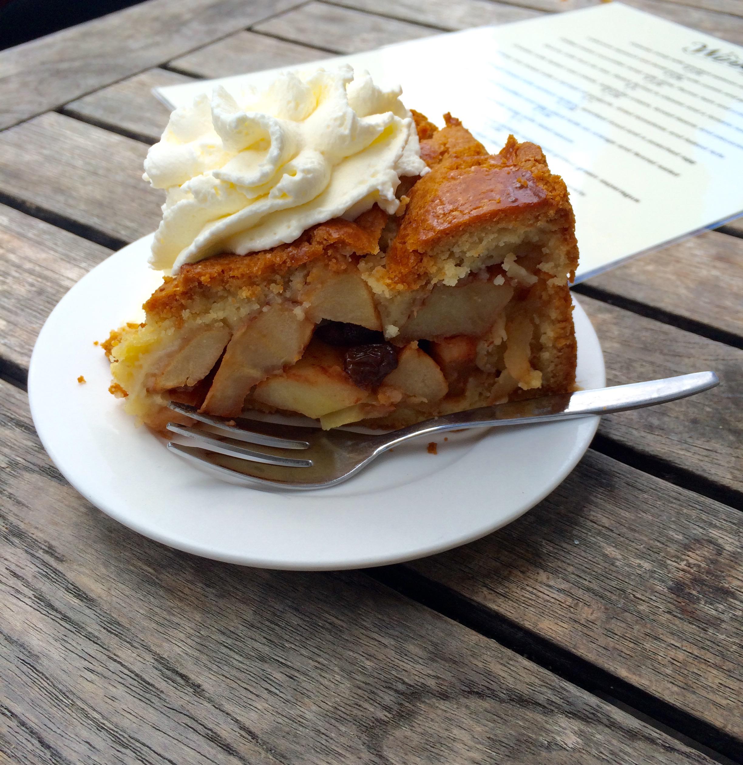 Apple Tart at Winkel Cafe
