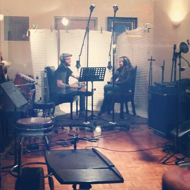 Randi & Nick chatting a bit at Sine Studios, working on episode 4! #randipantsshow