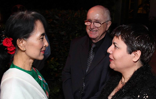 Aung San Suu Kyi, Jack Healey, Feryal Gharahi, October 2013