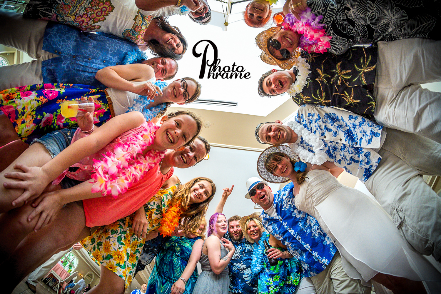 Roundup Hawaiian Party, Check! Ali and Andrew at Birch Hill. Photo Phrame Photography, Albany, NY