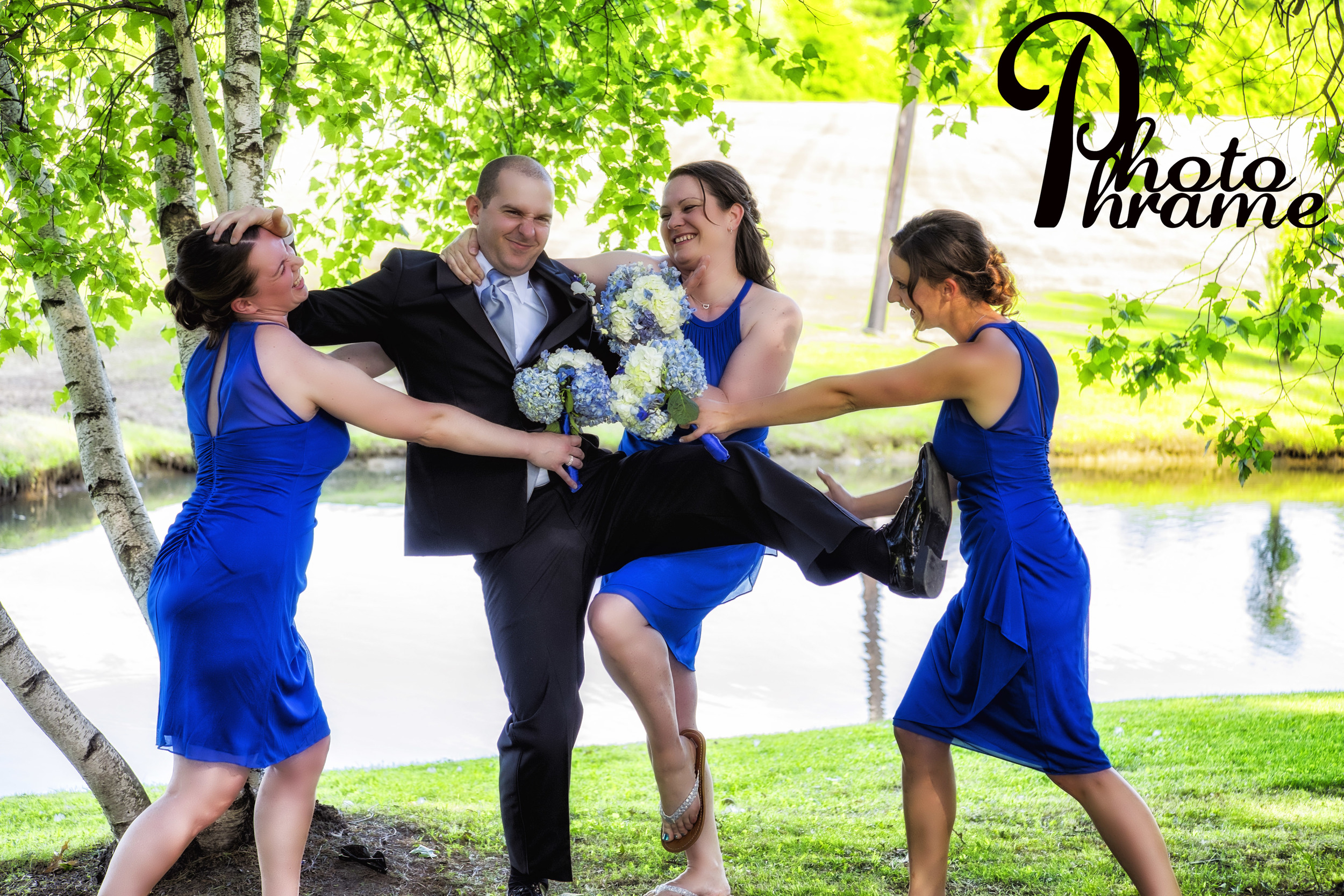 Attack of the killer Bride's Maids! Photo Phrame Photography, Albany, Saratoga, NY