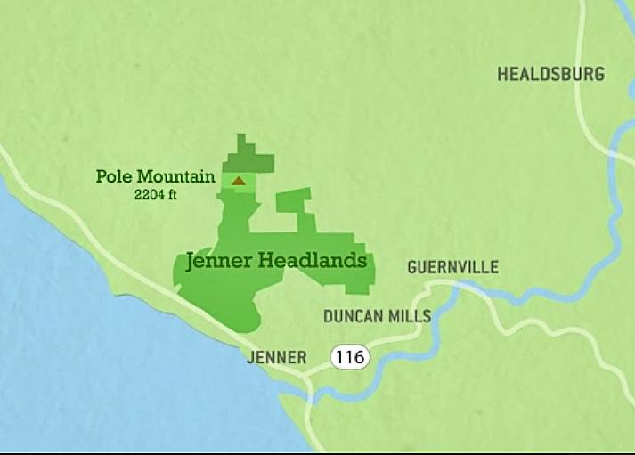Map Of Jenner California.Sonoma Coast