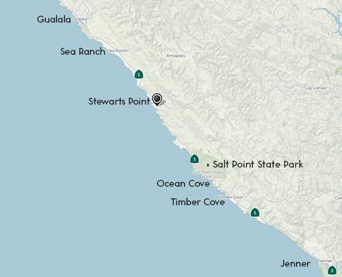 Stewarts Point Map
