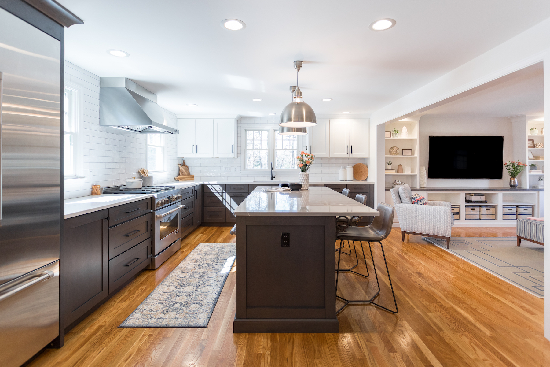 Custom Hardwood Floors And Countertop