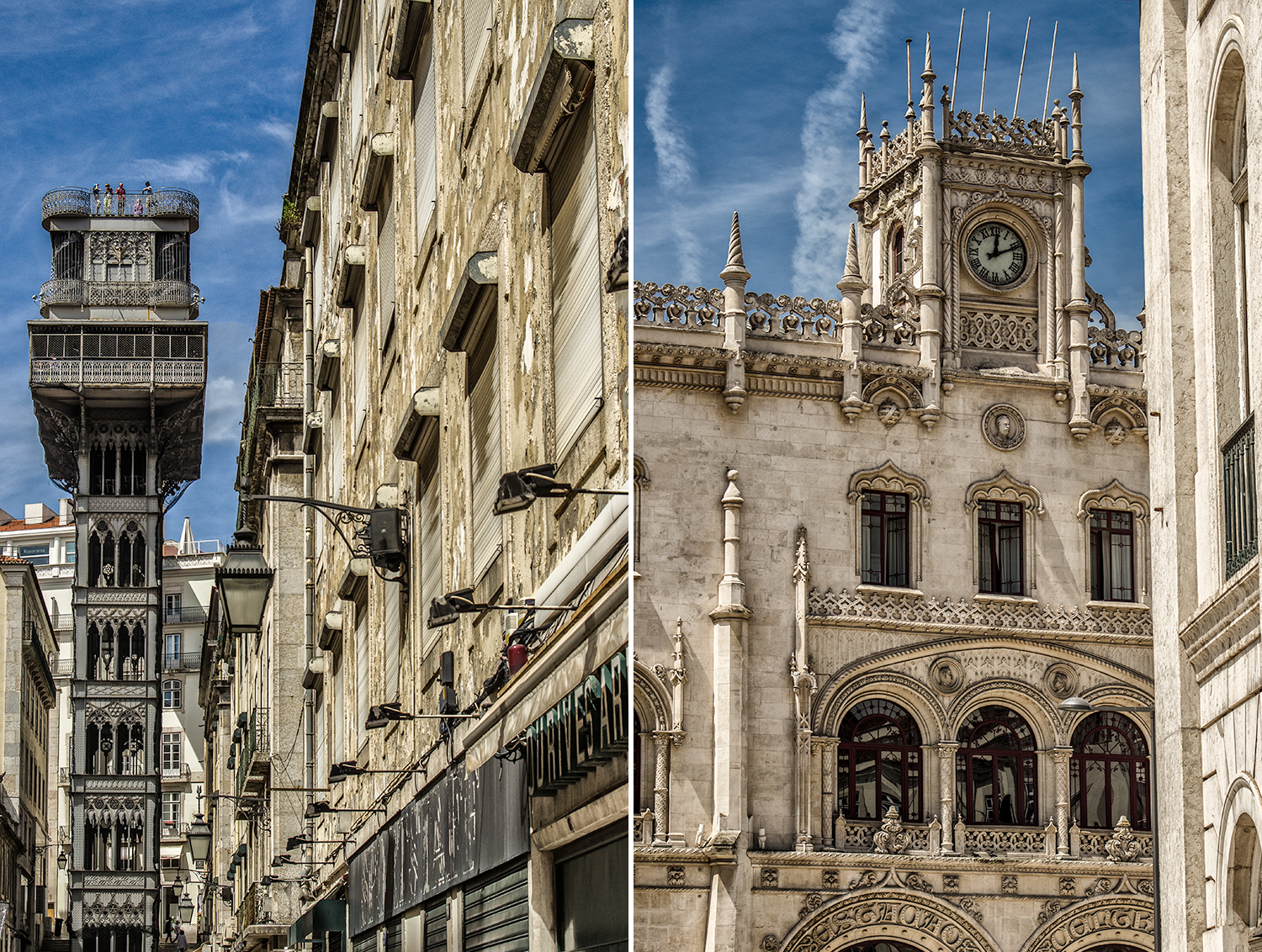 Lisbon sightseeing with Lisbon Photo Tour - Santa Justa Lift and Rossio's Train Station