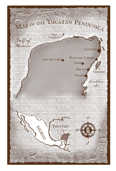 Map I drew for the Middle Grade novel,  Jungle Crossing.