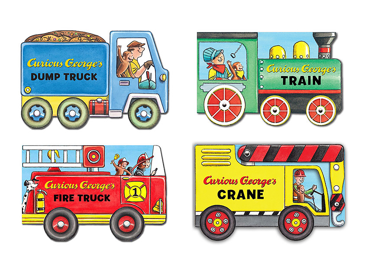 Curious George shaped board books