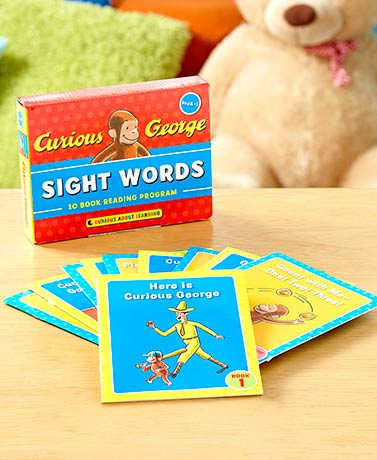 Curious George Sight Words-- a 10 book reading program. Oversaw the branding and new look needed to launch this reading kit and worked with copy artists to create on-brand classic art to illustrate reading concepts and help with word recognition. Curious George looks good!